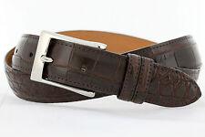 Genuine American Alligator brown matte finish Custom handmade belt (Size 32-44)