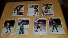 1970's Hockey Card Bruins Penguins Sabres vintage lot Kehoe Schultz Sittler MORE