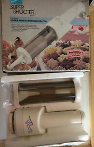 Proctor Silex Super Shooter Plus Complete in Box Cookie Press cordless decorator