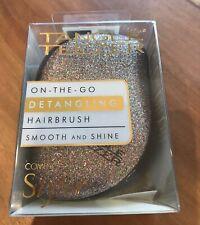 Tangle Teezer On The Go GLITTER & BLACK Detangling Smooth & Shine Hair Brush