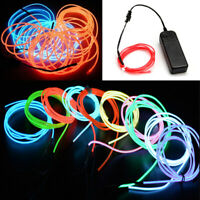 2M 5M LED Flexible Neon Light Glow EL Strip Tube Cool Wire Rope Home Car Decor