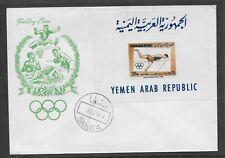 L3486 YEMEN ARAB REPUBLIC FDC Olympic Games