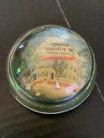 Vintage Abraham Lincoln's Home Springfield Illinois Glass Souvenir Paperweight