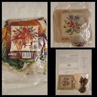 Vintage Pako Wheel Barrow Tapestry (Started) and Small SMA Roses Tapestry