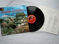 MADAMA BUTTERFLY LP HIGHLIGHTS puccini los angeles /emi asd 609 half moon + book