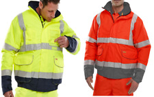 BeeSwift BD208 Hi-Vis Protective Two Tone Bomber Jacket Heavyweight Polyester