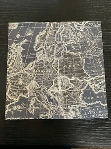 Punch Studio KEEPSAKE Storage Box New! -14329 Map with silver accents Retire WOW