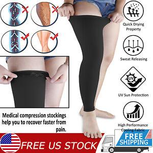 Compression Thigh Sleeve Leg Pain Relief Socks Knee Brace High Support Men Women