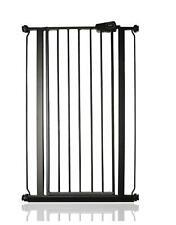 Safetots Extra Tall Safety Baby Gate Matt Black Narrow Fit 68.5 - 75cm