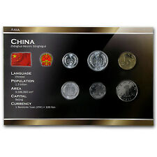 1983-2012 China 1 Fen-1 Yuan Coin Set BU - SKU #87185