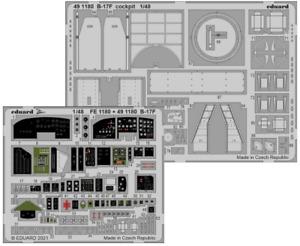 Eduard PE 491180 1/48 Boeing B-17F Flying Fortress cockpit details HKM