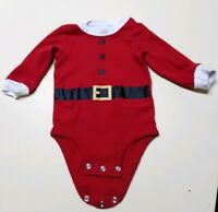 Santa Christmas Outfit Bodysuit Carters Girls/Boys Red 6 Months Baby Infant