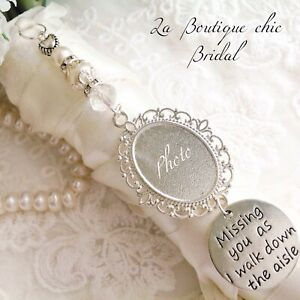 Lovely bridal bouquet photo frame memory memorial charm, bride, wedding gift