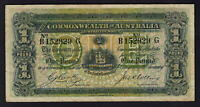 Australia R-21. (1918) Cerutty/Collins - One Pound.. B Prefix, G Suffix.. aVF