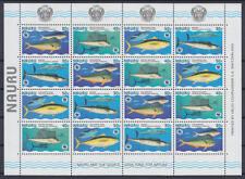 Nauru - Michel-Nr. 437-440 postfrisch/** als ZD-Bogen (WWF: Fische / Fish)