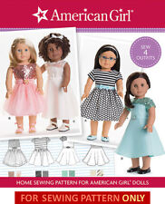 SEWING PATTERN! AMERICAN GIRL DESIGNS! OUTFITS~CLOTHES FIT GRACE~MARYELLEN~LEA