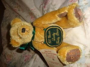 l/e green tag hermann bear NEW YORK TOY FAIR SPECIAL 2002, lucky penny on paw