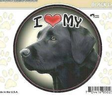 "I Love My Black Labrador Retriever Lab Dog 3"" Decal Vehicle Windows"