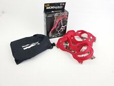 Kahtoola Microspikes Traction Spiked Cleats Snow Ice Trail Hiking Red Sz XL VGUC