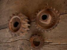 Steampunk Gears Cogs Lot of 3 Rusty Loft Cabin farmhouse Decor re purpose