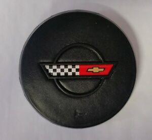 1984 - 1985 Corvette Horn Button Cross Flags Emblem Reproduction C4 NEW