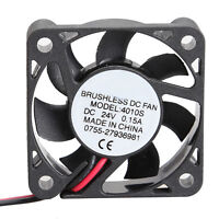 1 PC 4010S 24V Cooler 40x40x10mm Brushless DC Fan 7 Blades Mini Cooling Radiator