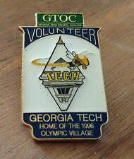 Georgia Tech Olympic Coalition Volunteer Home 1996 Atlanta Olympic Village Pin