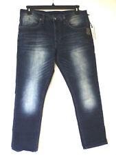 Buffalo David Bitton Mens 36x32 Urban Wash Ash X Basic SKINNY Stretch Jeans