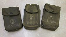 ISRAELI CANVAS POUCH LOT OF 3 W/ MARKINGS MILITARY CASE