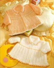 Premmie Baby Knitting Pattern 31- 51 cms Premature Matinee Jackets in 8 Ply