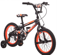 16 Inch Mongoose Orange Bike Gift for Kids Child Bicycle Boys Training Wheels