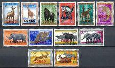 CONGO / RUANDA-URUNDI 1959-1960 FAUNA - PROTECTED ANIMALS - 3 MNH SETS     Hk79