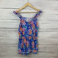 Piping Hot Size 12 M Bright Floral Playsuit Jumpsuit *Defect - stain Romper