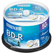 50 Maxell Bluray Discs BD-R 25GB 4X Speed Inkjet Printable Blu-ray Sealed Pack