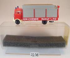 Praline 1/87 Mercedes Benz LP 809 Feuerwehr GW Chemie OVP #3298