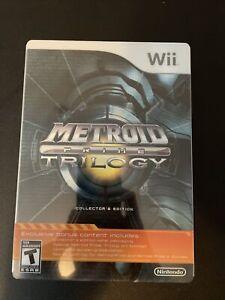 Metroid Prime: Trilogy - Collector's Edition (Wii, 2009) - Steelbook Version CIB