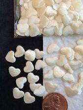 Ivory Cream Hearts Satin fabric heart Wedding Baptism Valentines Cards Shower
