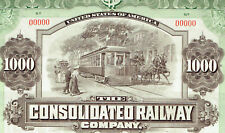 CONSOLIDATED RAILWAY COMPANY, NEW HAVEN CT 1.1.1906 $1000 GOLD BOND SPECIMEN