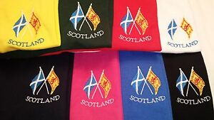 SALTIRE RAMPANT LION FLAGS EMBROIDERED ON A POLO SHIRT SCOTLAND SCOTTISH SCOTS