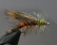1 Dozen - Orange  Stimulator -  Dry Fly - Trout