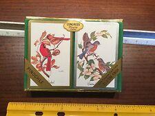NOS Vintage Congress Playing Cards Birds Cardinals Eastern Bluebirds
