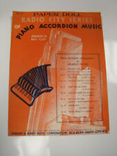 1942 PAPER DOLL RADIO CITY SERIES OF PIANO ACCORDION MUSIC SHEET MUSIC BASS CLEF