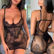 Women Lace Sexy Lingerie Set Sleepwear Underwear Dress G-string Nightdress