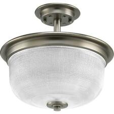 Progress Lighting Archie Collection 2-Light Antique Nickel Semi-Flush Mount