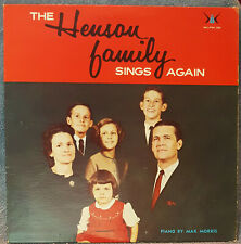 HENSON FAMILY Sings Again LP Gospel RARE Worship Records WLPM151