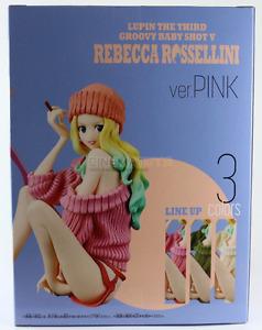 LUPIN III - Groovy Baby Shot 5 Rebecca Rossellini Pink Ver. Figure Banpresto