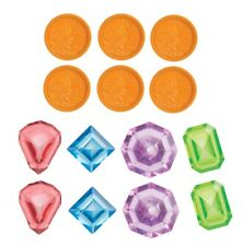14 Pool Dive Coins & Jewels Diving Water Bath Tub Swimming Swim Toy Set for Kids