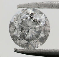 0.21 Ct Natural Loose Diamond Black Grey Color Round I3 Clarity 3.70 MM N9000
