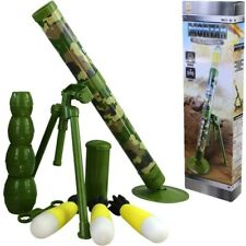 KIDS TOY MORTAR ROCKET LAUNCHER 15ft SNIPER FIRING SOUNDS BOYS ARMY SOLDIER PLAY