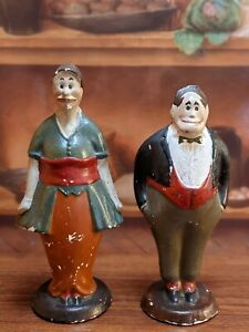 Vintage Composition Jiggs&Maggie Cartoon Strip Character Figures